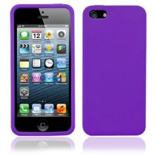 SILICONE CASE FOR IPHONE 5 /5s PURPLE